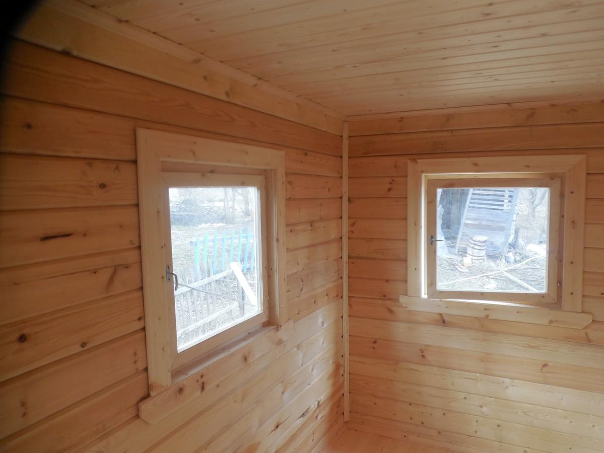 Фото внутренней отделки домов из бруса